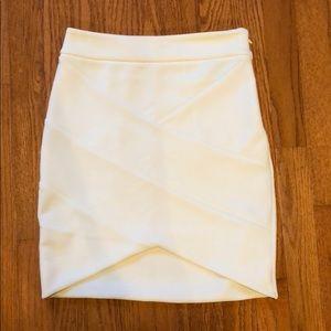 Cream fitted skirt